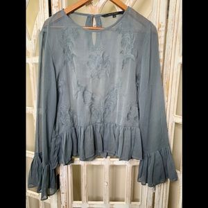 Walter Baker large embroidered blouse